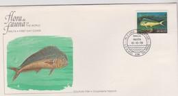 Malta 1979 Flora And Fauna ,Dolphin Fish FDC - Malta