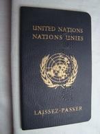 United Nations Unies Rare Laissez-Passer Passport 1962 Republic Of Congo Excellent Condition - Documents Historiques