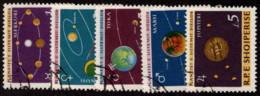 ALB SC# 777-85 U 1964 Planets CV $5.65 - Albania