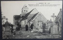 CPA GUERRE DE 1914 - BROUSSY-le-PETIT - L'Eglise Dévastée Par Le Bombardement - Réf. S 88 - Guerra 1914-18