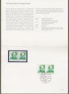 "Bund: Minister Card - Ministerkarte Typ IV, 2x Mi-Nr. 1802 ** + ESST, "" 100 Jahre Nord-Ostsee-Kanal "" !       X - Covers & Documents"