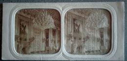 Photo Stéréo PARIS Les Tuileries Salon De La Paix - Papier Albuminé Colorié, French Tissues 1860 - Stereo-Photographie