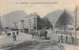 38 - GRENOBLE - Cours Saint-André Et Avenue De Vizille - Grenoble
