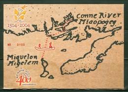 Les Indiens Micmacs à SPM. Timbre Scott # 775. Miquelon Terre-Neuve à La Rame. Acadie 400 Ans, Erreur En Maths. (3220) - St.Pierre Et Miquelon
