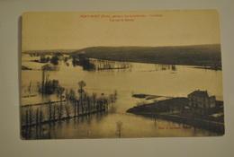 27 Eure Port Mort Pendant Les Inondations La Seine Vue Sur Le Goulet - France