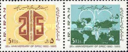 Iran 1985 The 25th Anniversary Of OPEC Stamps - Oil