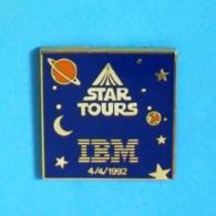 1 PIN'S //  ** STAR TOURS / IBM / 4.04.1992 ** . (©IBM ©Disney  Lucas Film Ltd) - Informatique