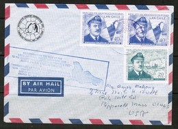CHILE   Scott # 361(2) & C 271 On ANTARCTIC TOUR COVER COVER---MINISTRY Of DEFENCE BACKSTAMP (OS-487) - Chile