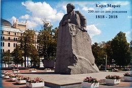 2342 200 Years Karl Marx (1818–1883) Philosopher Economist Stamp Card Moscow 2018 - 1992-.... Fédération