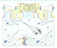 """CPSM ILLUSTRATEUR JEAN PIERRE KERIO """" 18ème Anniversaire Du Premier Vol Commercial Du Concorde"""" - Illustrators & Photographers"""