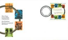 2000  Engineering Sc 1848, Tête-bêche Pair - Omslagen Van De Eerste Dagen (FDC)