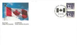 1990   39¢ Flag Coil  Pair  Sc 1194B - Omslagen Van De Eerste Dagen (FDC)