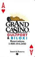 Grand Casino - Gulfport & Biloxi, MS - Hotel Room Key Card - PPI On Reverse With Small Logos & A's - Hotel Keycards