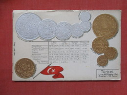 Embossed Coins Of Turkey--  As Is Top Border Damage   Ref 3504 - Coins (pictures)