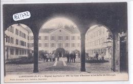 LABRESSORE- HOPITAL AUXILIAIRE N 216- COUR D HONNEUR- SALLES DE CHIRURGIE- CACHET DE FRANCHISE AU VERSO - Autres Communes