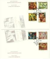 1998   Automatistes Painters Sc 1743-9 From Booklet On 2 FDCs - Omslagen Van De Eerste Dagen (FDC)