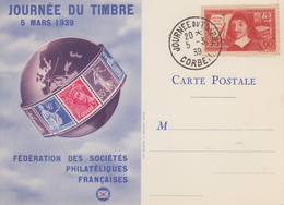 Carte   FRANCE   JOURNEE  Du  TIMBRE    CORBEIL   1939 - Journée Du Timbre