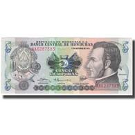Billet, Honduras, 5 Lempiras, 1978-10-04, KM:63a, NEUF - Honduras