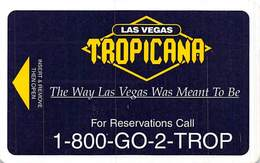 Tropicana Casino - Las Vegas NV - Hotel Room Key Card - Hotelsleutels (kaarten)