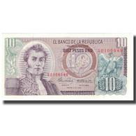 Billet, Colombie, 10 Pesos Oro, 1969-01-02, KM:407c, NEUF - Colombia