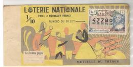 20129 - MUTUELLE DU TRESOR - Billetes De Lotería