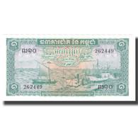 Billet, Cambodge, 1 Riel, UNDATED (1956-75), KM:4b, SPL+ - Cambodia