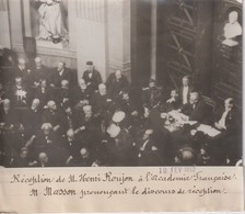 RECEPTION HENRI ROUJON A L'ACADEMIE FRANCAISE M MADDON DISCOURS 18*13CM Maurice-Louis BRANGER PARÍS (1874-1950) - Personalidades Famosas