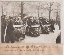 OBSÈQUES M QUENTIN BAUCHARD CONSEILLER MUNICIPAL VILLE DE PARIS 18*13CM Maurice-Louis BRANGER PARÍS (1874-1950) - Personalidades Famosas