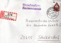 ! 1 Einschreiben 1997 , Mit Provisorischen R-Zettel  Aus 24253 Probsteierhagen , Schleswig-Holstein - R- & V- Vignette