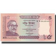 Billet, Bangladesh, 5 Taka, 2012, NEUF - Bangladesh