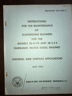 OS Navy Ships Fairbanks-Morse Diesel Engines 1961 - Fuerzas Armadas Americanas