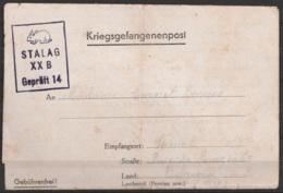 Courrier De Prisonnier (Kriegsgefangenenpost) 30 Octobre 1940 - Cachet Censeur STALAG XXB Geprüft 14 (lapin) - Guerre 40-45