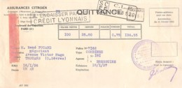 27-0421    1936 ASSURANCES CITROEN A PARIS - M. FOUARD A THOUARS - Lettres De Change