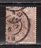 25A  Petit Lion - Bonne Valeur - Oblit. - COB 100 - Rousseurs - Vendu à 5% Du COB!!!! - 1866-1867 Coat Of Arms