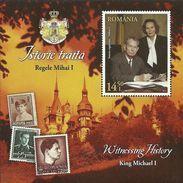 Romania 2014 / King Michael I / Perforated S/S - Nuevos