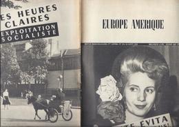 1952 EUROPE AMERIQUE - LE CRAPOUILLOT 5 P. SCANDALE SOCIALISTE A SPA 4 P. EVITA PERON 5 P. MOSSADECH 4 P ESPIONNAGE USSR - Geschiedenis