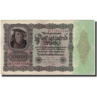 Billet, Allemagne, 50,000 Mark, 1922, KM:80, TB+ - [ 3] 1918-1933 : Repubblica  Di Weimar