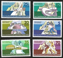 V) 1976 GERMAN DEMOCRATIC REPUBLIC, 12TH WINTER OLYMPIC GAMES, INNSBRUCK, MNH - [6] Democratic Republic