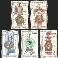 V) 1965 CZECHOSLOVAKIAN, CZECHOSLOVAKIAN OLYMPIC VICTORIES, MNH - Czechoslovakia