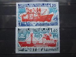 VEND BEAUX TIMBRES DES T.A.A.F. N° 66 + 67 , XX !!! (d) - Unused Stamps