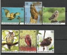 Cuba 2019 Night Birds Of Preys.Owls 6v + S/S MNH - Águilas & Aves De Presa