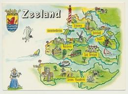 AK  Orientierungskarte Map Zeeland - Maps