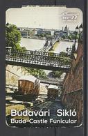 Hungary,  Buda-Castle Funicular, Return Ticket , 2019. - Tram