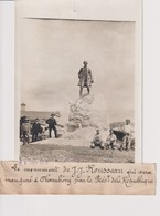 LE MONUMENT DE JJ ROUSSEAU INAUGURE A CHAMBÉRY PRÉSIDENT  73 Savoie 18*13CM Maurice-Louis BRANGER PARÍS (1874-1950) - Orte