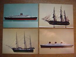 Lot De 23 Cartes De BATEAU - Musée De La Marine De Marseille ( Voilier Paquebot Cargo Corvette Navire Vaisseau ....... ) - Ships