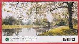 Domaine De Chantilly. Oise (60), Visuel : Le Parc. 2019. - Tickets D'entrée