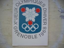 Emblème Officiel Jeux Olympiques D'hiver Grenoble 1968 - Olympic Games