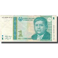 Billet, Tajikistan, 1 Somoni, 1999, KM:14A, TTB - Tadzjikistan