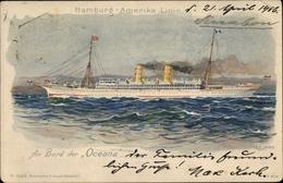 Artiste Cp Hamburg Amerika Linie, An Bord Der Oceana - Schiffe