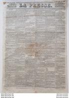 1848  Journal LA PRESSE Du 20 Juin - LES RÉVOLTÉS DES 45 CTS - CREUSE - GUÉRET - Documents Historiques